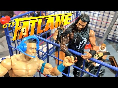 GTS WRESTLING: FatLame PPV! WWE Mattel Elite Wrestling Figures Fastlane Event Animation!