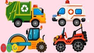 Lắp Ráp Xe Cứu Thương, Xe Hủ Lô, Xe Đổ Rác, Xe Jeep | TopKidsGames (TKG)