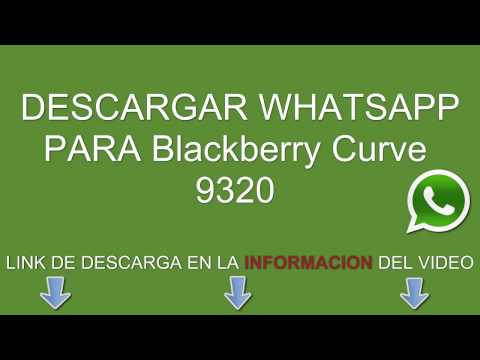 Descargar e instalar whatsapp para Blackberry Curve 9320 gratis
