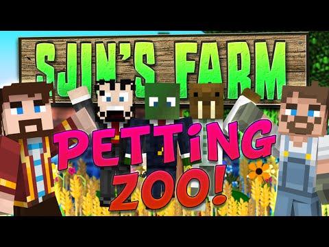 Minecraft - Sjins Farm #86 - Petting Zoo Surprise [feat Hat Films] video