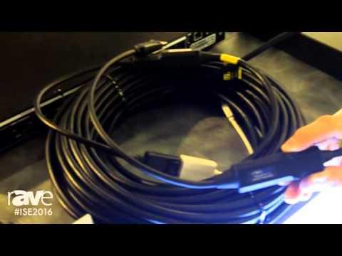 ISE 2016: DVIGear Showcases DVI-2625-FO DisplayPort v1.2 Fiber Optic Cable