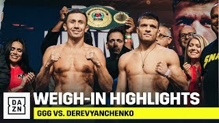 HIGHLIGHTS | GGG vs. Derevyanchenko Weigh-In