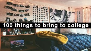 100 things to bring to college | back to school 2018