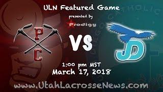 Utah High School Lacrosse: No. 2 Park City vs. No. 1 Juan Diego