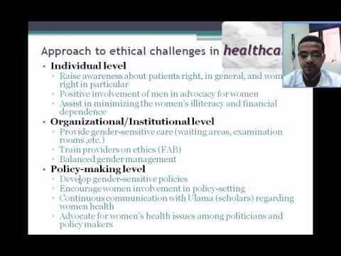 Ethical issues in women's health and research (Part 3)