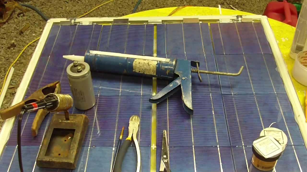 Homemade Solar Panels Diy Tutorial Complete Build Youtube