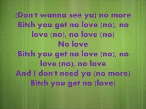 No Love- Eminem Feat. Lil Wayne Lyrics video
