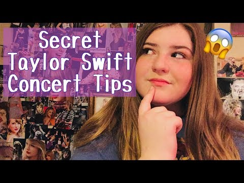 Taylor Swift Concert Tips! (Tips to get back stage, skip the lines, and more!)