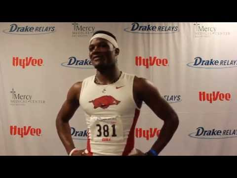 Omar McLeod (Arkansas) | Post Drake Relays Victory 2015