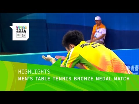 Men's Table Tennis Bronze Match - Highlights | Nanjing 2014 Youth Olympic Games