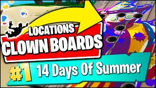 GET A SCORE OF 10 OR MORE ON A CARNIVAL CLOWN BOARD *LOCATIONS* (Fortnite 14 Days of Summer REWARDS)