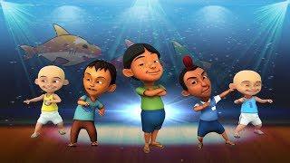 download lagu Upin Ipin Suara Emas Baby Shark Parody Dance Challenge gratis