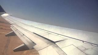 Boeing 737-800 is taking-off over Arabian Desert