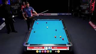 England Vs USA - Warm up for next week's Mosconi Cup 2018 9 Ball Pool Part 1/4