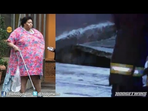 Overweight Woman Falls Through Sidewalk on New York City Streets Reaction