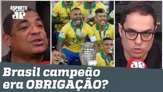 Era OBRIGAÇÃO? Vampeta e repórter DISCUTEM após título do Brasil!