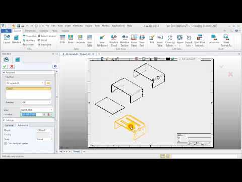 Sheet Metal tutorial - 8.How to create sheet metal 2D Layout
