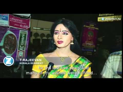 Indian Men Cross Dress For Festival