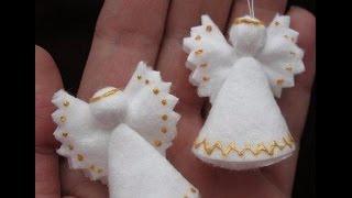 МК - ангелочки из ватных дисков ///// Master Class - angels of cotton disks