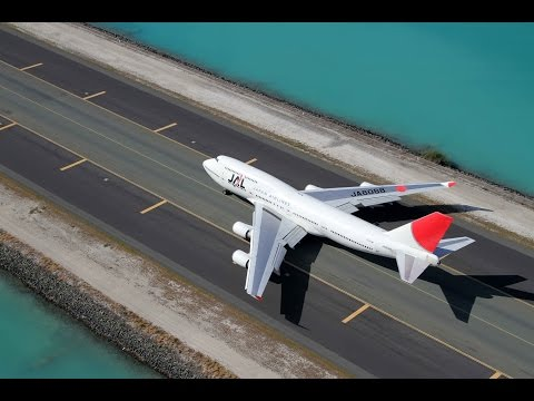 Boeing747-400 Japan Airlines Honolulu Take off From the air