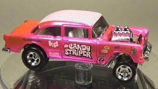 Custom Hot Wheels Candy Striper 55 Chevy Bel Air Gasser