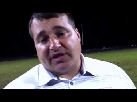 Edisto High School head football coach Geremy Saitz after loss to Silver Bluff 17 Oct 2014
