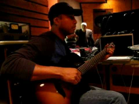 Bernie Williams recording a song (Chillin' in the West) for his new cd- part 2