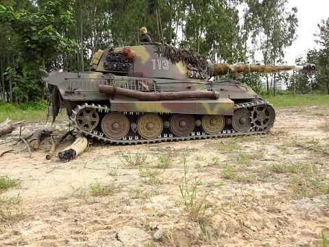 1/4 Scale RC Königstiger King Tiger Tank Field Test
