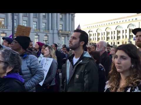 Call To Prayer At San Francisco Anti Trump Ban Demonstration