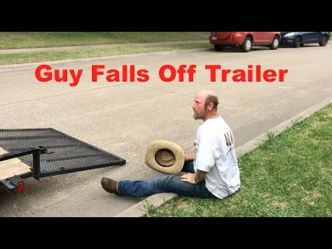 Guy falls off Trailer during Lawn care service Eclipse Vlog