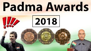 Padma Awards 2018 - complete analysis with expected questions - Awards and Honours - Current Affairs