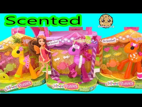 Fruit Scented Lalaloopsy Ponies Toys Review along with Mini Fairy Barbie Doll - Cookieswirlc Video