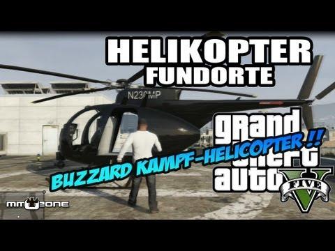 GTA V - Helikopter & Hubschrauber Standorte / Locations - Grand Theft Auto 5 [deutsch]