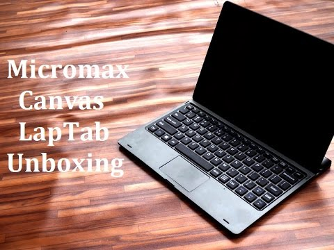 Micromax Canvas Laptab Unboxing and Hands On