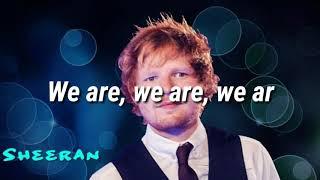 Beautiful People- Ed Sheeran,DJ Khalid Lyrics Video // We Are Not Beautiful // Lyrics Mania