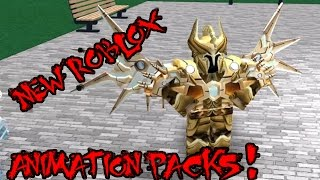 NEW ROBLOX ANIMATION PACKS!!!