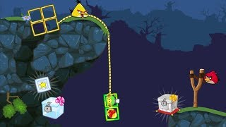 Bad Piggies - CATCH THE CRATE WITH GOLDEN ROPE WHILE MEETING ANGRY BIRDS!