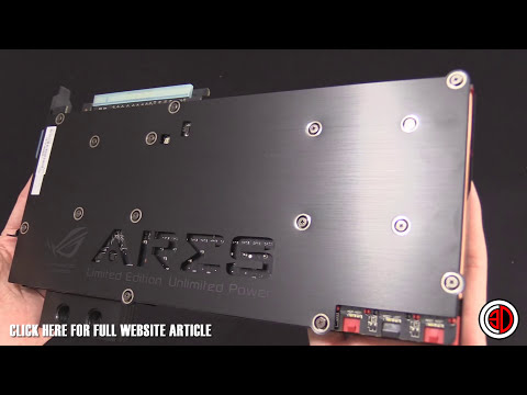 Asus ROG ARES III Dual 290X Ultimate Watercooled GPU FIRST LOOK