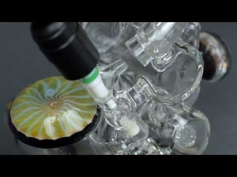 Jahnny Rise Hitman Glass Double Barrel Recycler Torch Tube