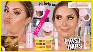 FULL FACE of FIRST IMPRESSIONS 👀 literally hate almost everything 😅