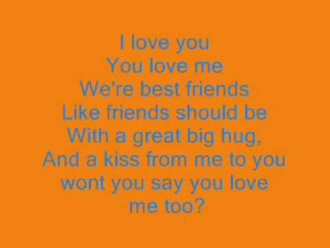 Barney i love you lyrics - YouTube