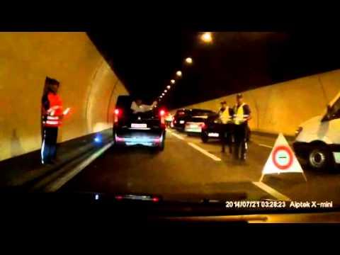 Grosskontrolle Bareggtunnel Dashcam