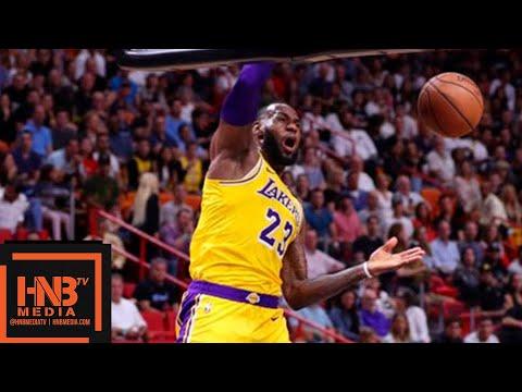 Los Angeles Lakers vs Miami Heat 1st Half Highlights   11.18.2018, NBA Season