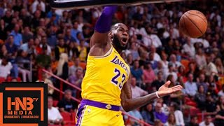 Los Angeles Lakers vs Miami Heat 1st Half Highlights | 11.18.2018, NBA Season