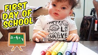 Reborn Goes to School Learns Colors Numbers and Alphabet