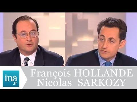 Débat Francois Hollande et Nicolas Sarkozy (Mots croisés 1998) - Archive vidéo INA