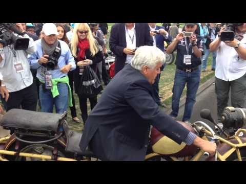 Jay Leno Riding A Motorcycle In The Pebble Beach Concours D'elegance 2014 Part 4