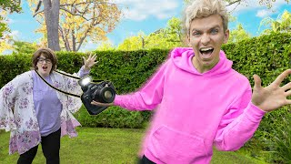WE STOLE MYSTERY NEIGHBOR VLOG CAMERA!! (Tracking Device Prank to Reveal True Identity)