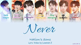 Download Lagu [Produce 101] Nation's Sons- Never (네버) Official Lyrics (Rom/Han/Eng) Gratis STAFABAND