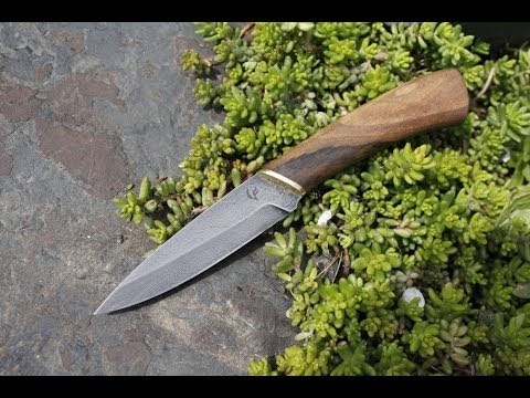 Making Hunting Damascus Steel Knife video